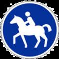 Reiterschild blau