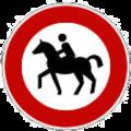 Reitverbotsschild