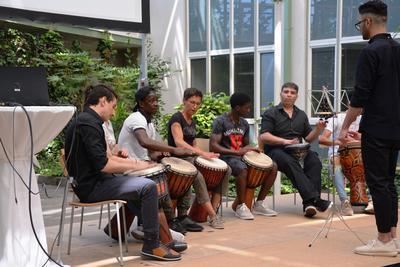 Trommelgruppe zur Bildungskonferenz 2017