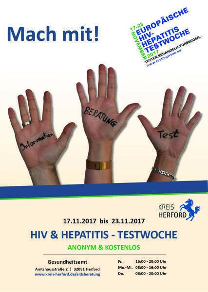 HIV und Hepatitis-Testwoche 2017